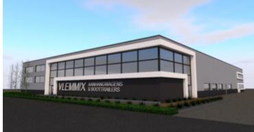 Nieuwbouw bedrijfspand Vlemmix te Asten