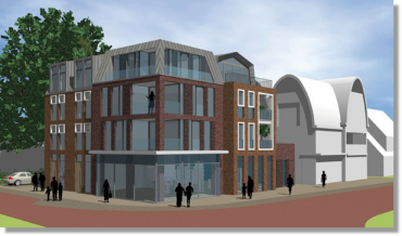 Nieuwbouw commerciele ruimte met appartementen te Eerbeek